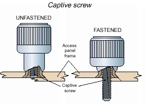 Captive Screw Diagram