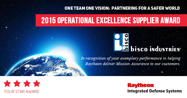 bisco Earns Raytheon Supplier Excellence Award